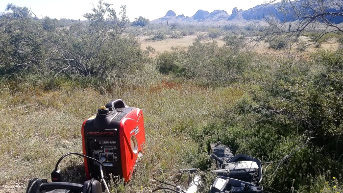using a generator while boondocking
