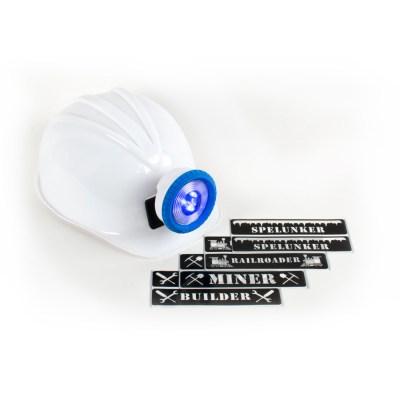 White MIner Helmet