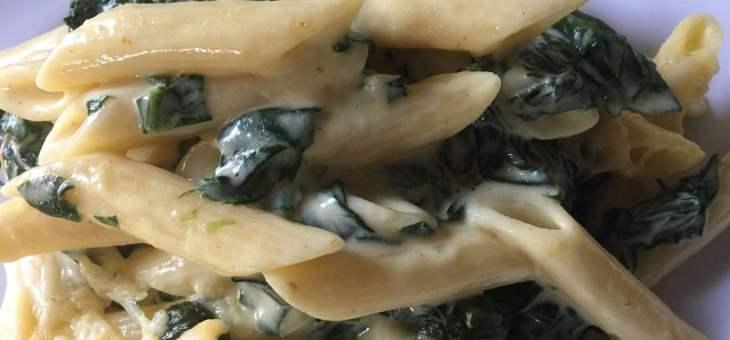 Macarrons amb espinacs