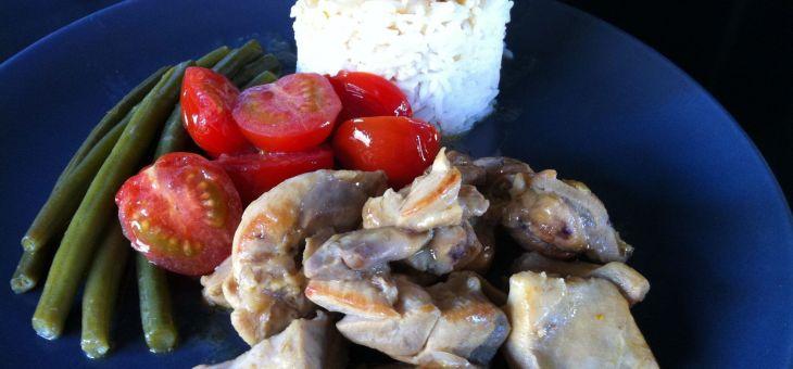 Curry de pollastre a l´estil tailandès