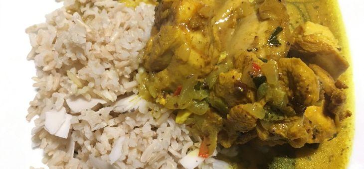 Curry agre de pollastre