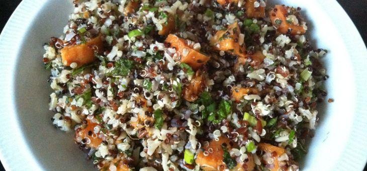 Amanida de quinoa, arròs i boniato
