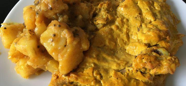 Pollastre tandoori amb curry de patates