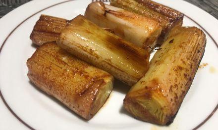 Porros al forn a la japonesa