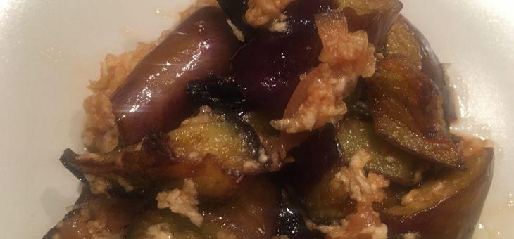 Albergínies amb umeboshi
