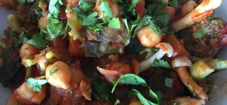 Verdures amb salsa de tomàquet