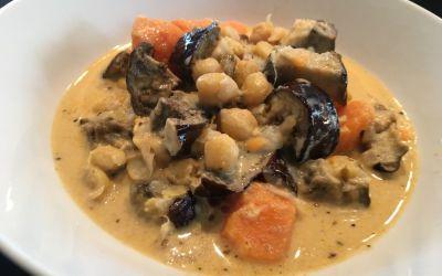 Curry de boniato amb cigrons