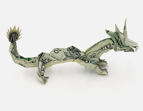 boooom origami dollar bill art