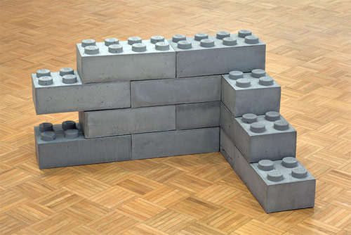 andrew lewicki sculpture artist concrete lego