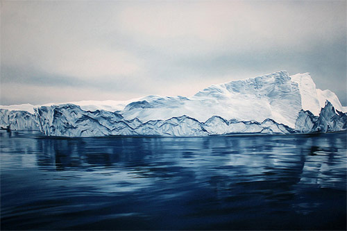 pastel drawings of greenland chasing light by artist zaria forman-forman_11