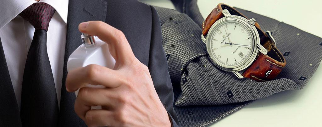 Ժամացույց, փողկապ, օծանելիք