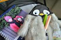 Fluffy baby penguin pencil case