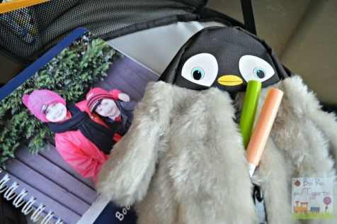 Fluffy baby penguin pencil case