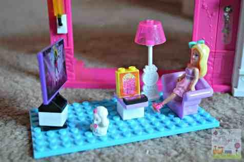 Mega Bloks Barbie Build N Play Fab Mansion - Living Room