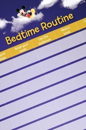 Printable yellow bedtime routine chart