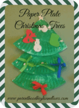 Paper Plate Christmas Trees - Parent Highs and Lows
