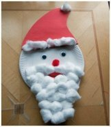 Paper Plate Father Christmas - Baked Potato Mummy