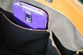 Alexander Black Brown Bag - Internal pockets
