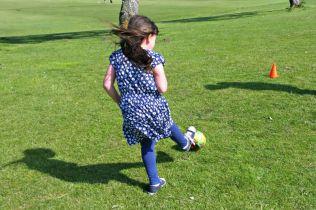 Family fun at Bure Park, Great Yarmouth - Roo football