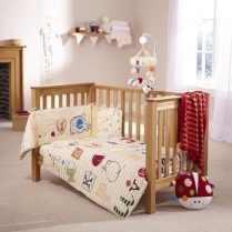 ABC 2 Piece Cot Bed Set