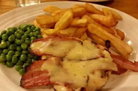The Nelson - streaky bacon and cheese topped chicken breast