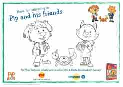 Pip Ahoy - Back to School Colouring-page-001