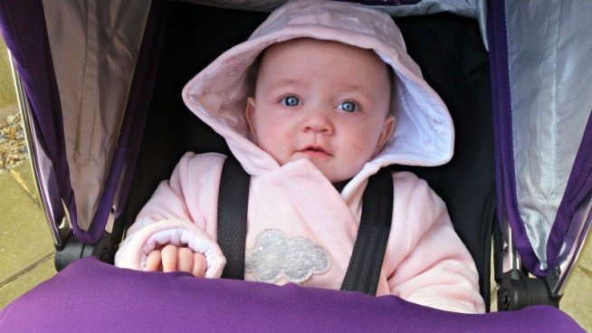 Mothercare Wadded Velour All In One - Pushchair