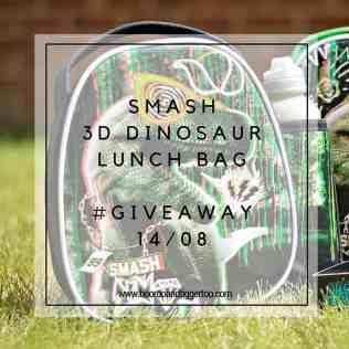 August 1 - Smash 3D Dinosaur Lunch Bag - instagram