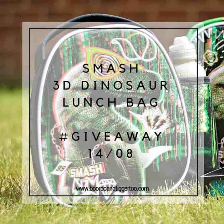 August 1 - Smash 3D Dinosaur Lunch Bag - instagram