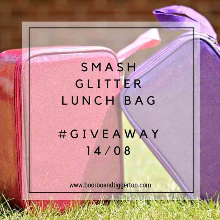 August 1 - Smash Glitter Lunch Bag - instagram