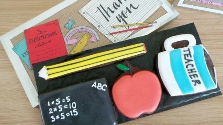 Biscuiteers thanks teacher biscuit tin - Layer 1