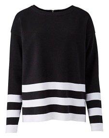 stripe zip back jumper