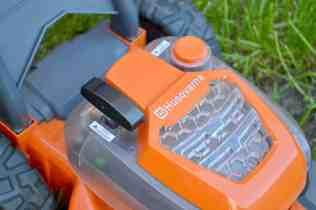 Husqvarna Toy Walk Lawn Mower - Close Up