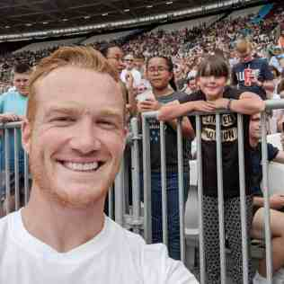 Muller Anniversary Games - Greg Rutherford Selfie