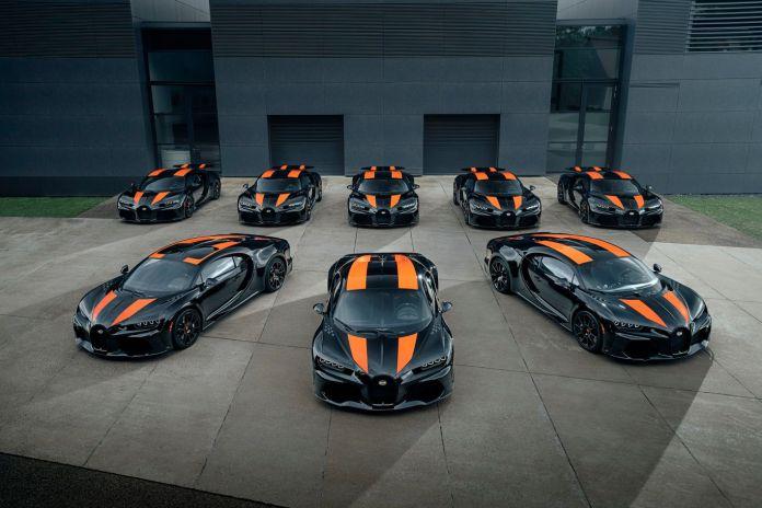 Bugatti har taget billeder af de første 8 Chiron Super Sport 300+, lige før de forlod fabrikken i Molsheim.