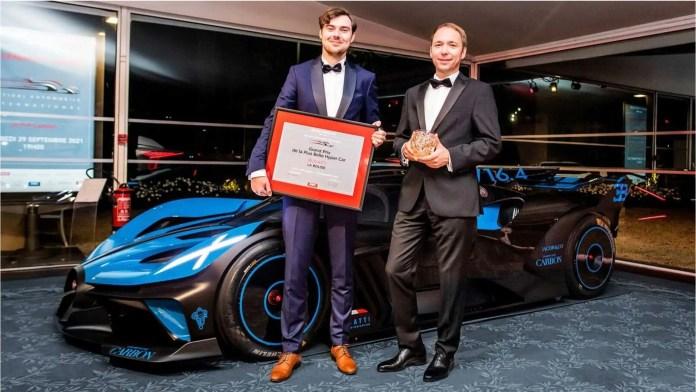 Bugatti Bolide er blevet kåret til verdens smukkeste hyperbil