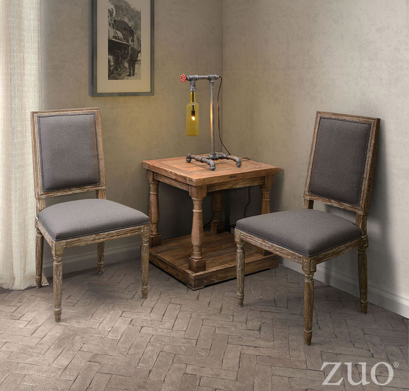 Zuo Era Solo Dining Chair Vintage Postage Print Boost Home