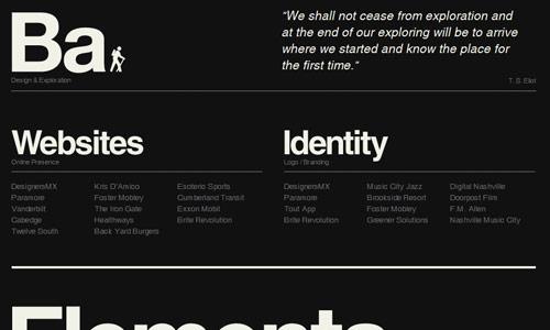 blakeallen design in 30 Excellent Black Website Designs for Inspiration