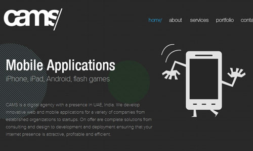 camstech in 30 Excellent Black Website Designs for Inspiration