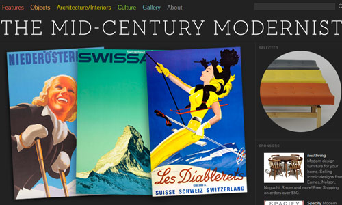 midcentury modernist in 30 Excellent Black Website Designs for Inspiration