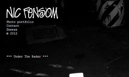nic fensom in 30 Excellent Black Website Designs for Inspiration