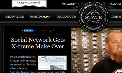 the old state in 30 Excellent Black Website Designs for Inspiration