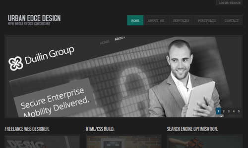 urban edge design in 30 Excellent Black Website Designs for Inspiration