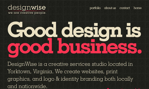 wedesignwise in 30 Excellent Black Website Designs for Inspiration