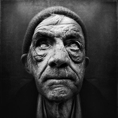 portrait of homeless