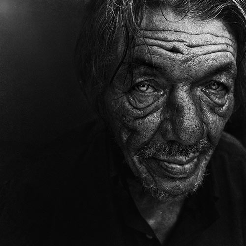portrait of homeless