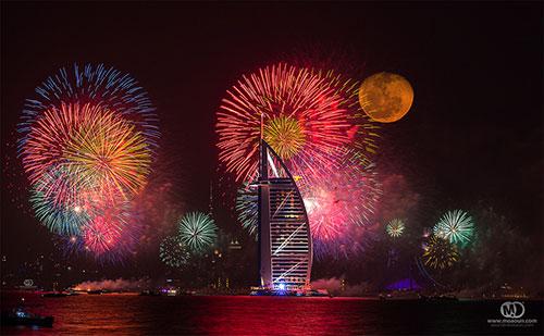 Burj Al Arab Fireworks
