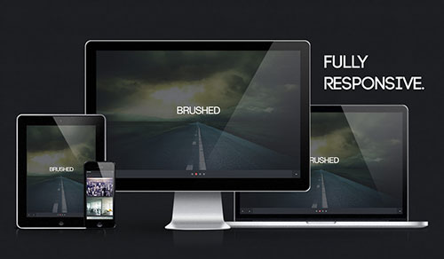 Brushed - Free One Page Responsive HTML Template