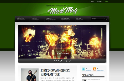 MusiMag Blogger Template