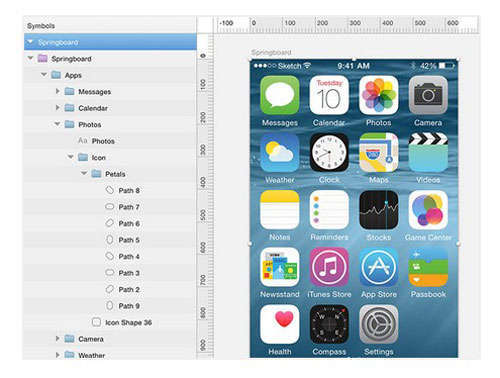 iOS8 UI Kit For Sketch